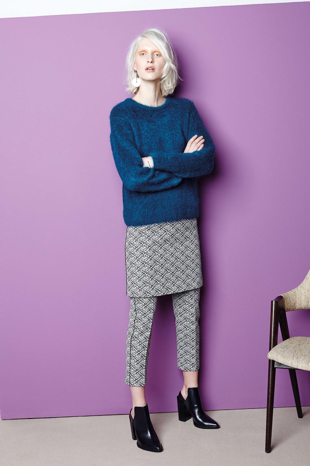 Piazza Sempione Blue Sweater Fall 2015