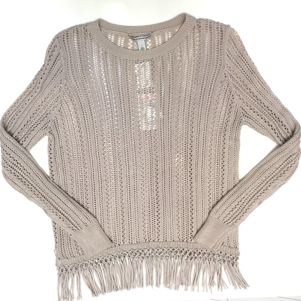 Cotton by Autumn Cashmere Fringe Pullover
