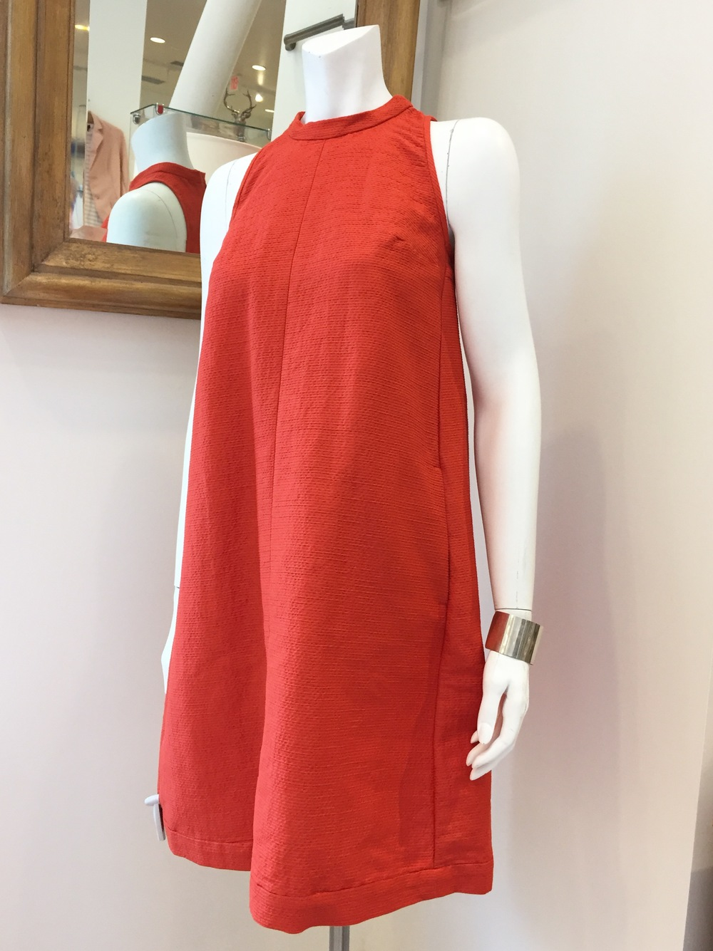 'SMax Mara Silk trapeze dress and Loren Stewart Sterling Silver Cuff