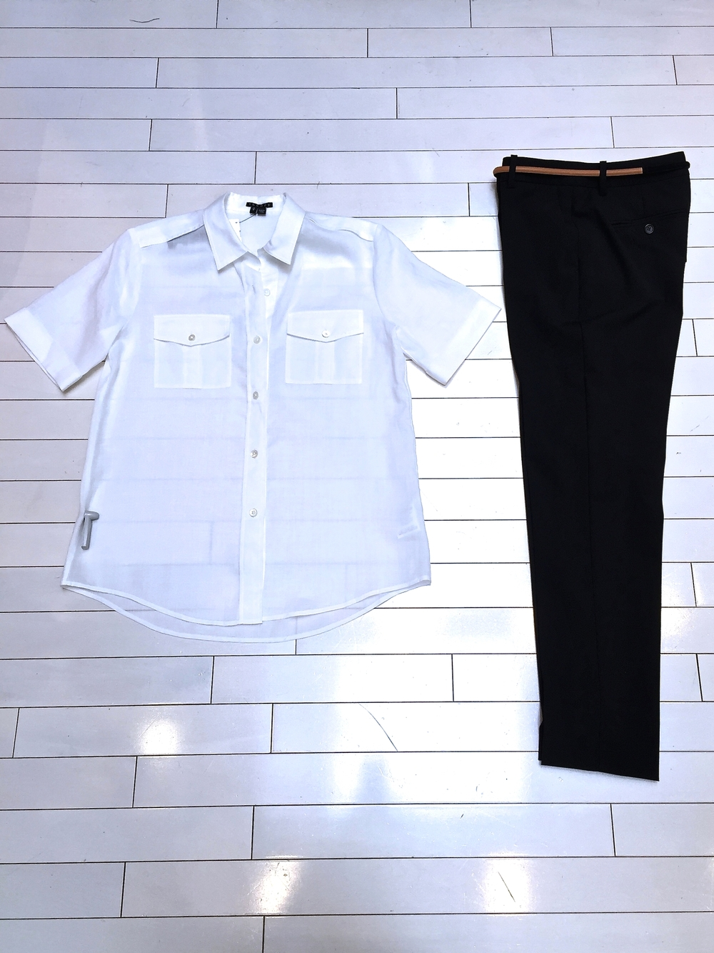 Theory Matri Shirt and Testra Ankle Pant
