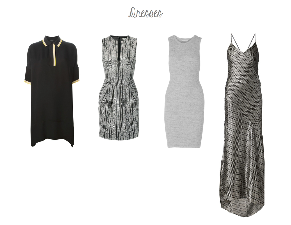 Rag & Bone Dana Tunic, L'Agence June Dress, James Perse Ribbed Tunic Dress, L'Agence Romi Maxi Dress