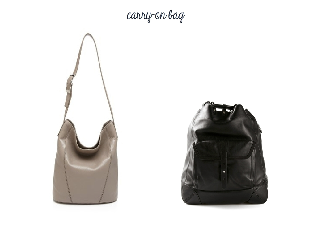Vince Signature V Bucket Bag and Rag & Bone Grayson Backpack