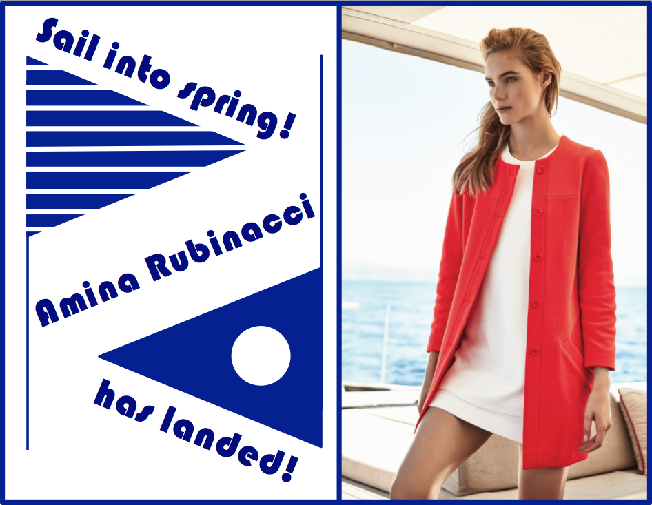 Made in Italy, the spring 2016 collection from Amina Rubinacci features subtle sparkles & luxurious textiles, in a vibrant, nautical palette. Monday, February 15 - Sunday February 21 take $25 off your Amina Rubinacci purchase!