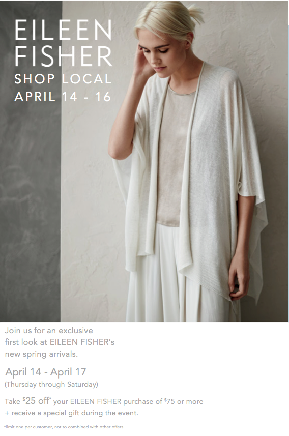 Eileen Fisher Shop Local April 2016
