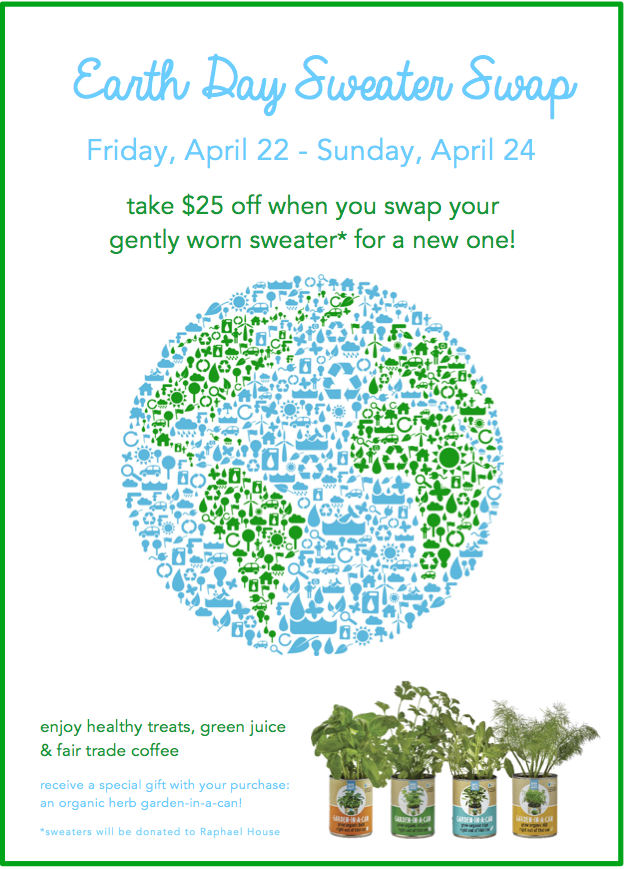 Earth Day Sweater Swap