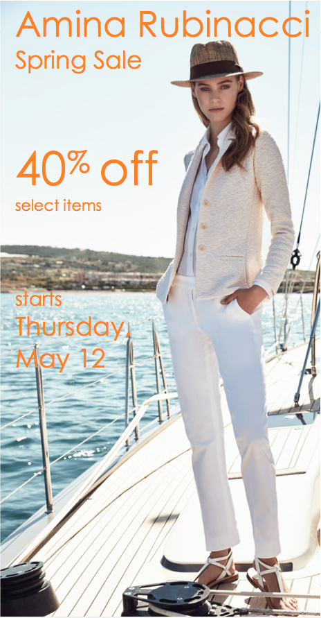 Amina Rubinacci Spring Sale May 2016