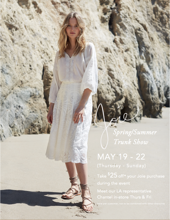 Joie Spring/Summer Trunk Show 2016