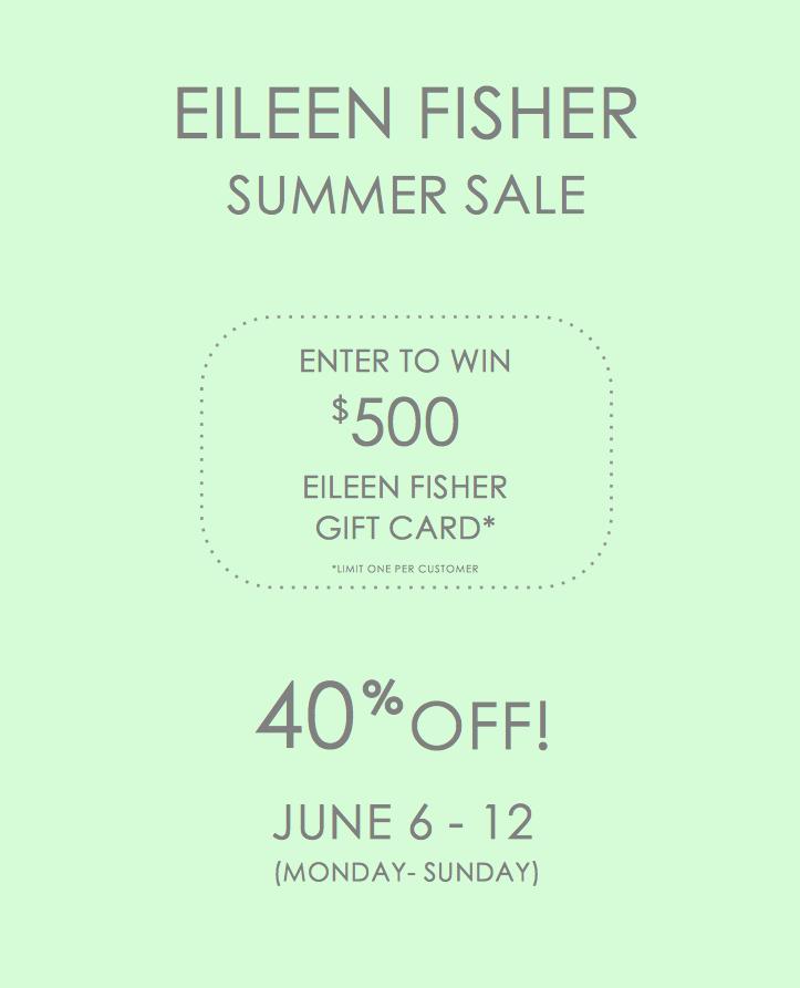 Eileen Fisher Summer Sale