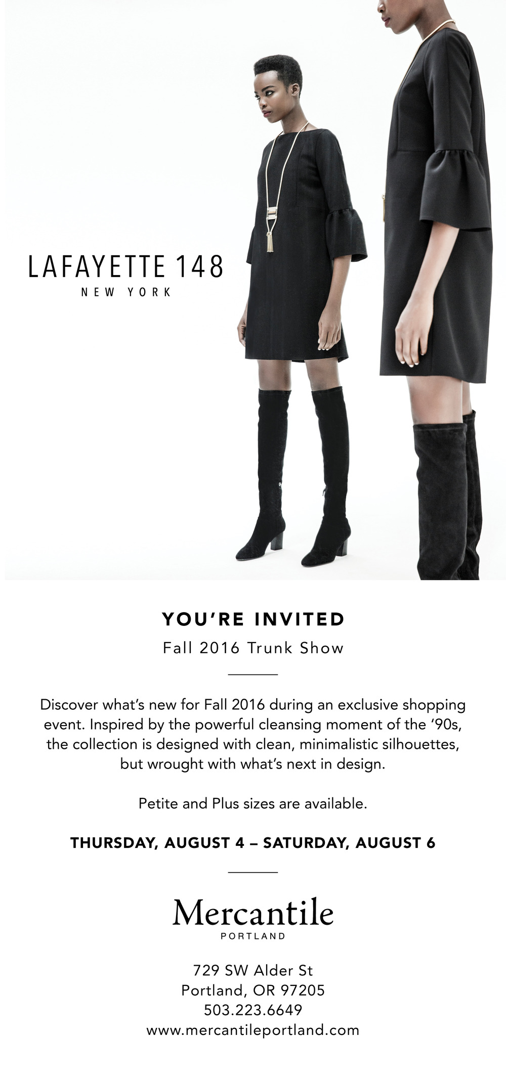 Lafayette 148 NY Fall 2016 Trunk Show