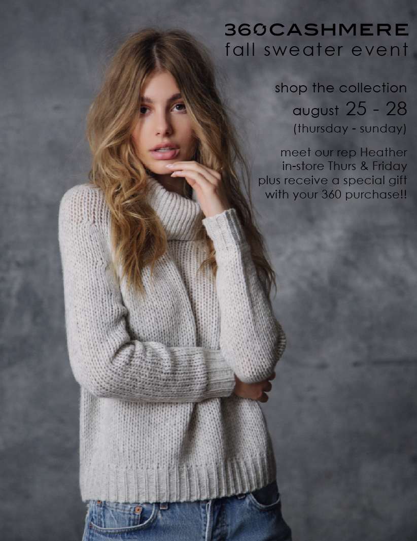 360 Cashmere Fall 2016 Trunk Show