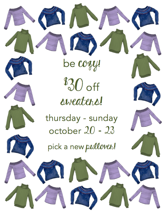 Fall Sweater Event