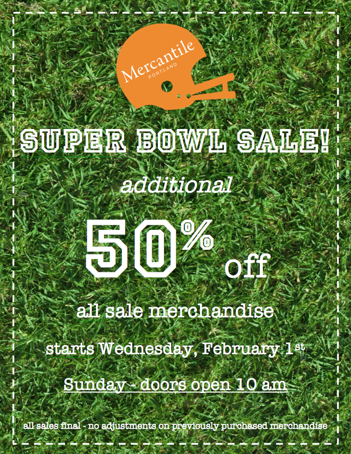 Super Bowl Sale 2017
