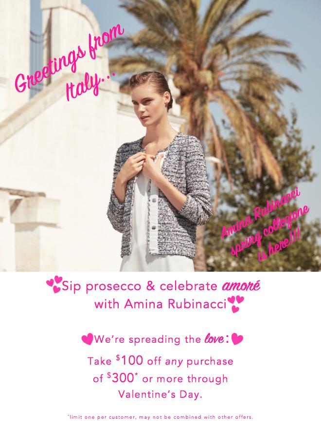 Amina Rubinacci Valentine's Day