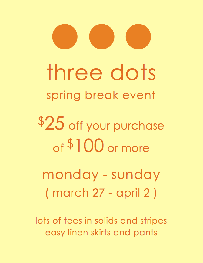 Three Dots Spring Break Event