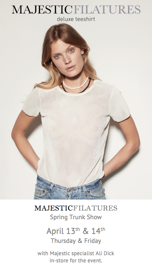 Majestic Filatures Spring 2017 Trunk Show