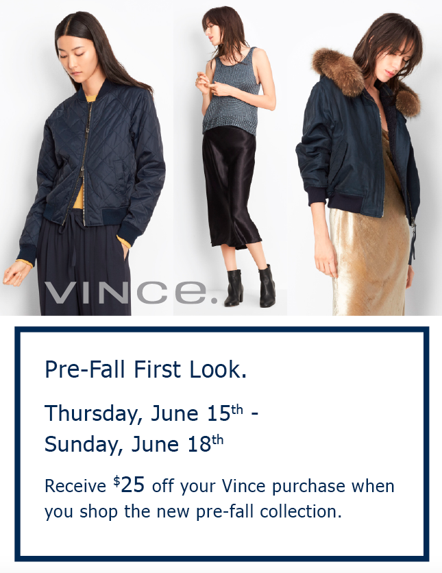Vince Pre Fall First Look 2017