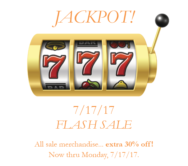 7/17/17 Flash Sale