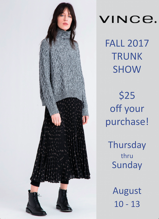 Vince Fall 2017 Trunk Show