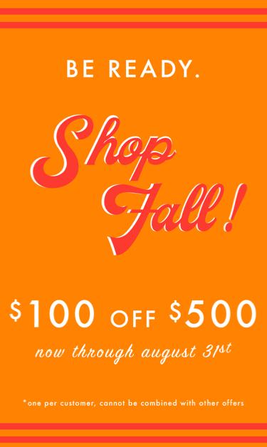 Fall Shopping Card