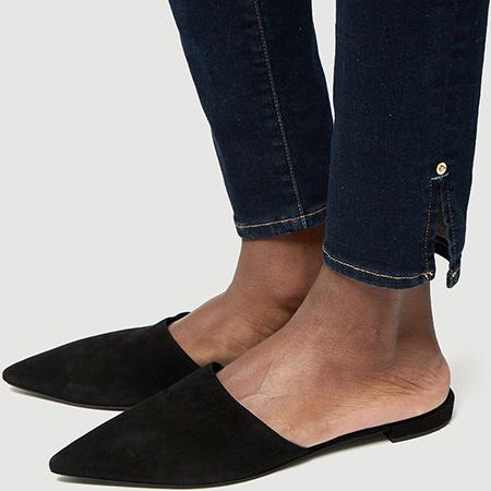 Ankle Details - Elevated details to dress up your dark denim.Frame Le Skinny de Jeanne, $215