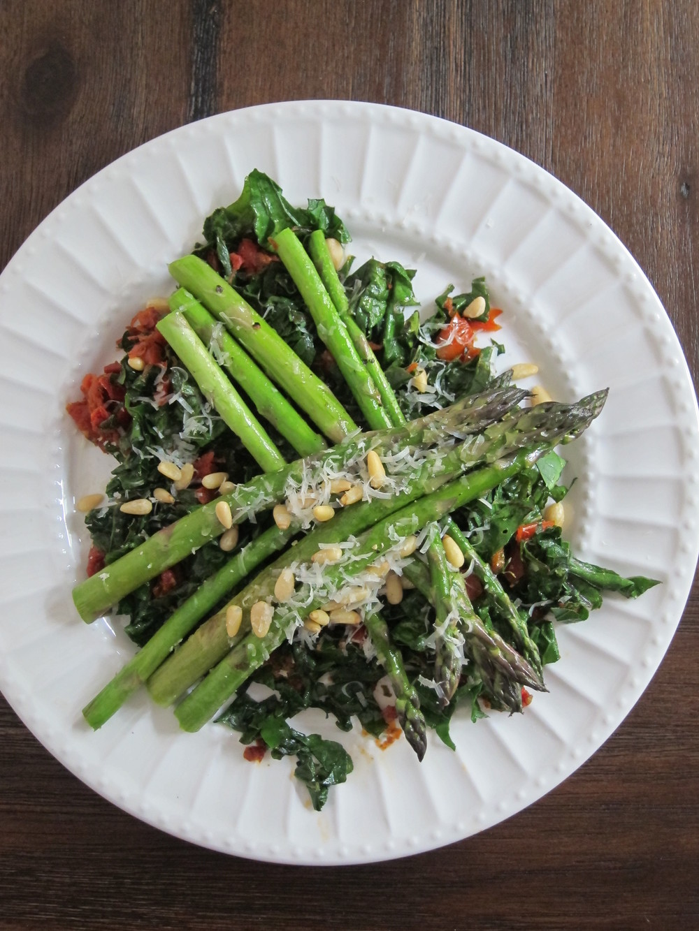 sauteed asparagus and kale salad