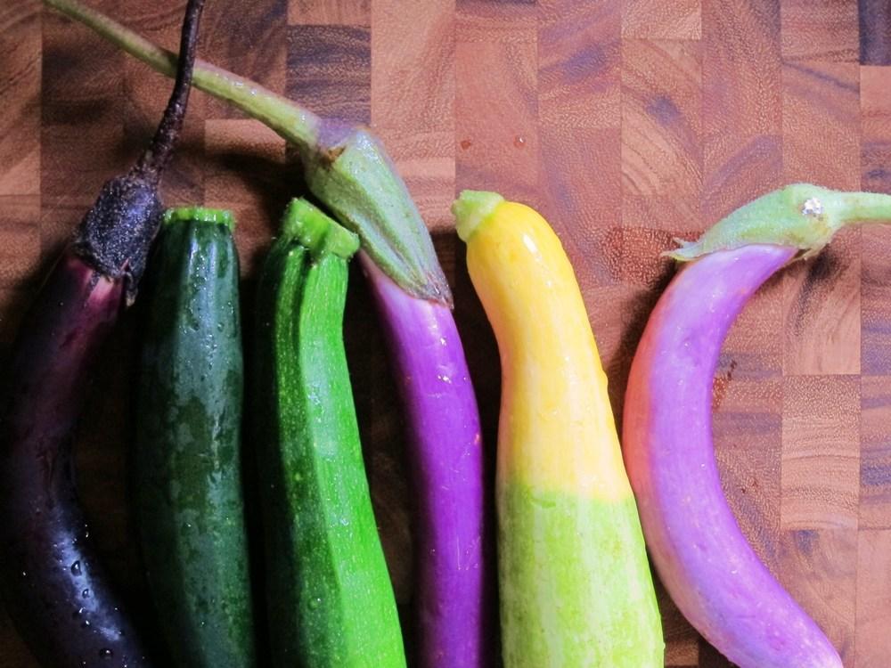luscious zucchini and eggplant pasta // funkybeetsblog.com