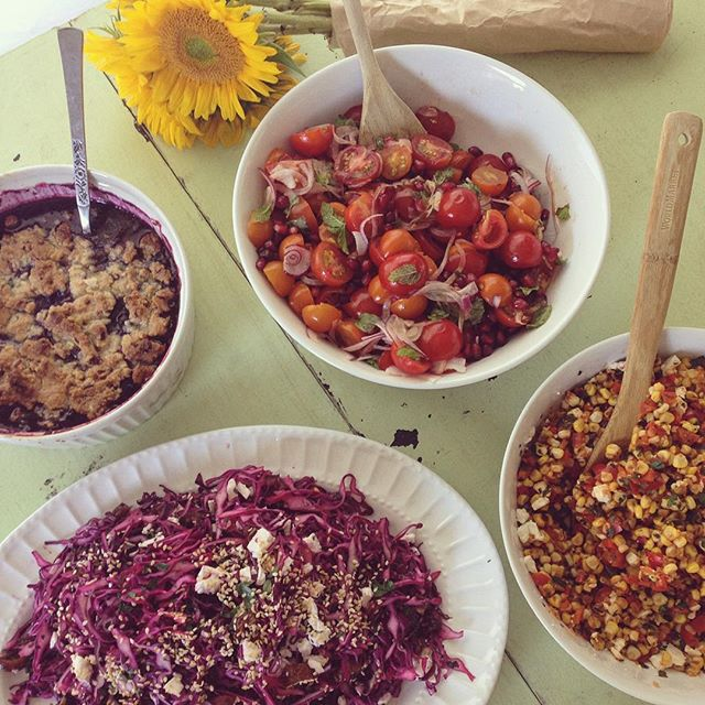 Sneak peek of my August article: potluck-worthy dishes using local ingredients in unusual ways. Move over meat, it's all about the sides today! #foodwriting #august #eatlocal #funkybeets #vegetables #summereats