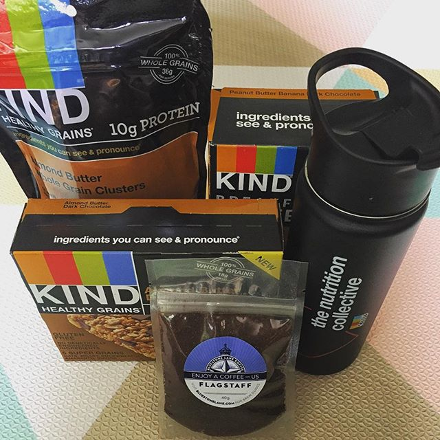 Über-psyched about this amazing package I got today from @kindsnacks !! The bottle is a stainless steel infuser from Steepware that can be used to make hot or cold coffee or tea! Can't wait to try these snacks when my #whole30 is complete! For now, I have to hide them from my husband. 🙈