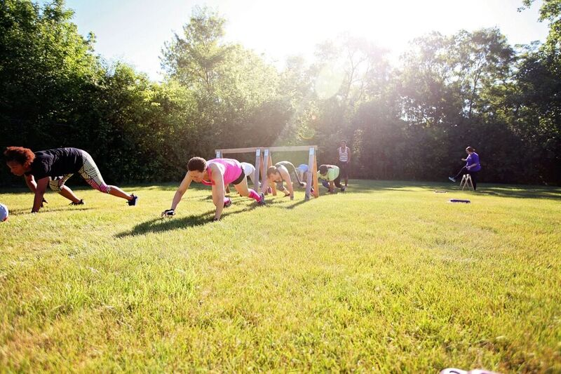 Bear crawls - Outdoor Boot Camp
