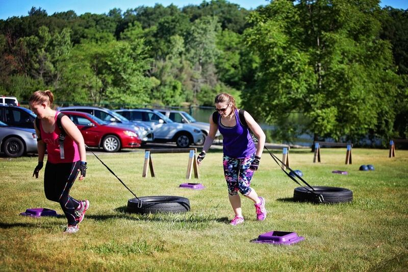 Harness sprints - Outdoor Boot Camp
