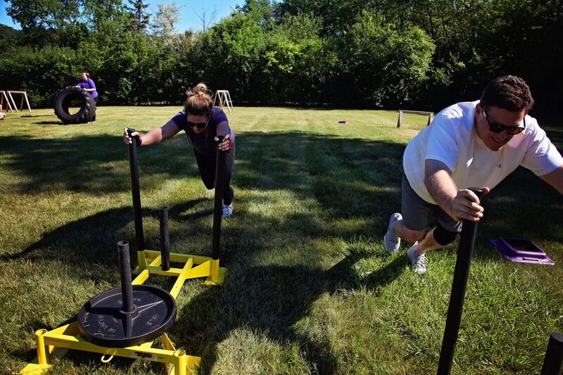 Sled pushes - Outdoor Boot Camp