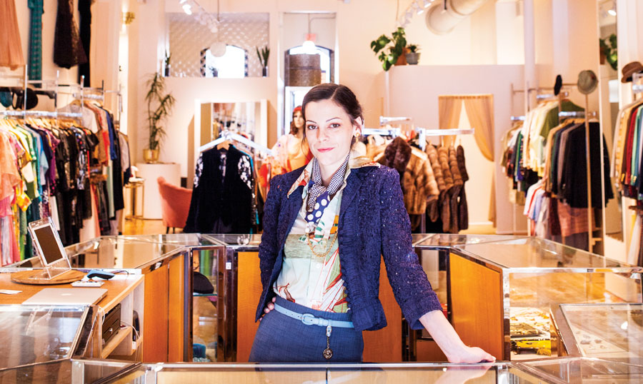 Photo of owner Audra Frizzell by TJ Turner for Minnesota Monthly Magazine
