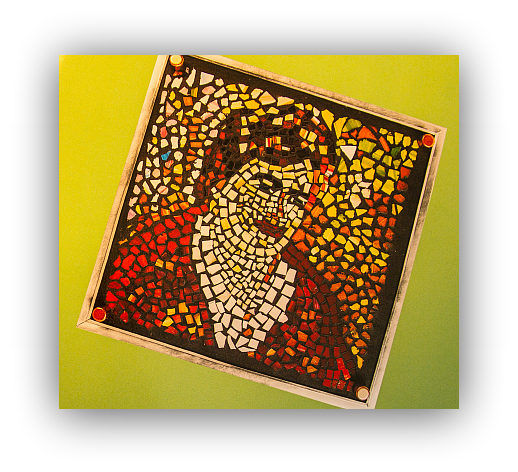 Mosaic self-portrait by a YWCA clent