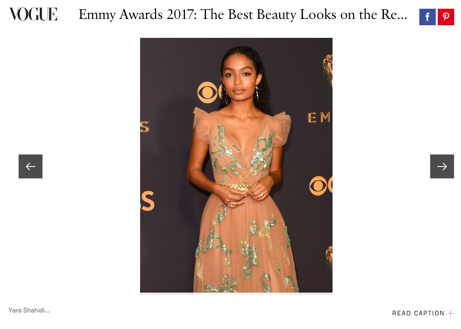VOGUE  EMMYS BEST BEAUTY ROUND UP