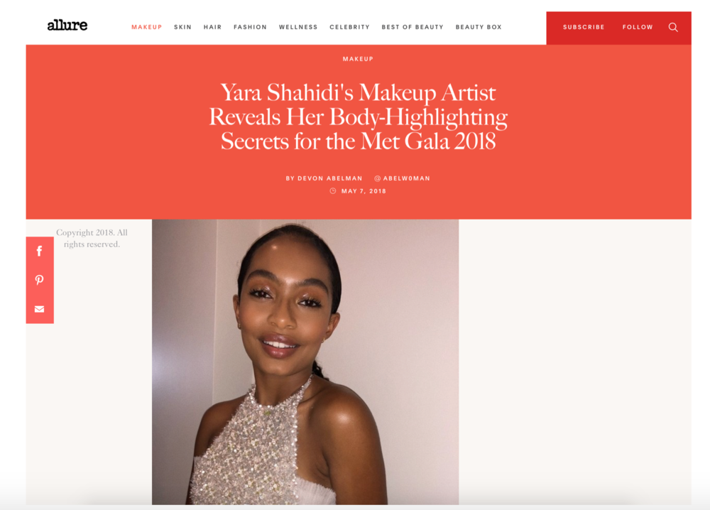 YARA SHAHIDI X MET GALA 2018-  MAKEUP FEATURE