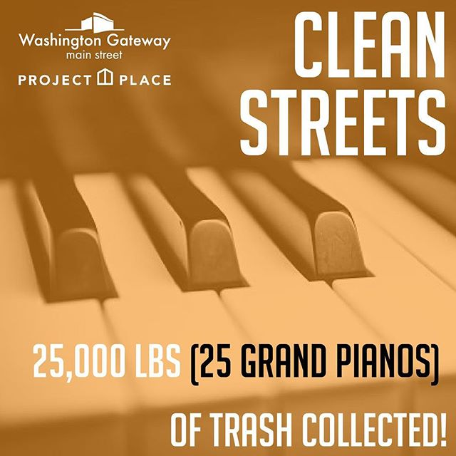 """You're probably thinking, """"What does a piano have to do with Washington Gateway?"""" Through our partnership with @projectplaceboston we have removed the equivalent of 25 GRAND PIANOS worth of trash from Washington Street in the South End and Lower Roxbury since kicking off our Clean Streets initiative!! Want to help us with this great work? Reach out to learn more - and join our fantastic 2018 sponsor partners @capitalone, @ndcommunities & @inkblockboston, @gerdingedlen, @relatedcos,@southend_chc, @schochetco, @flourbakeryandcafe, @myersandchang, Leggatt McCall, Stonegate Group, Webster Bank, Polaris PR, Old Boston Restorations, and Washington Street Condo Trust in keeping our neighborhood clean!"""