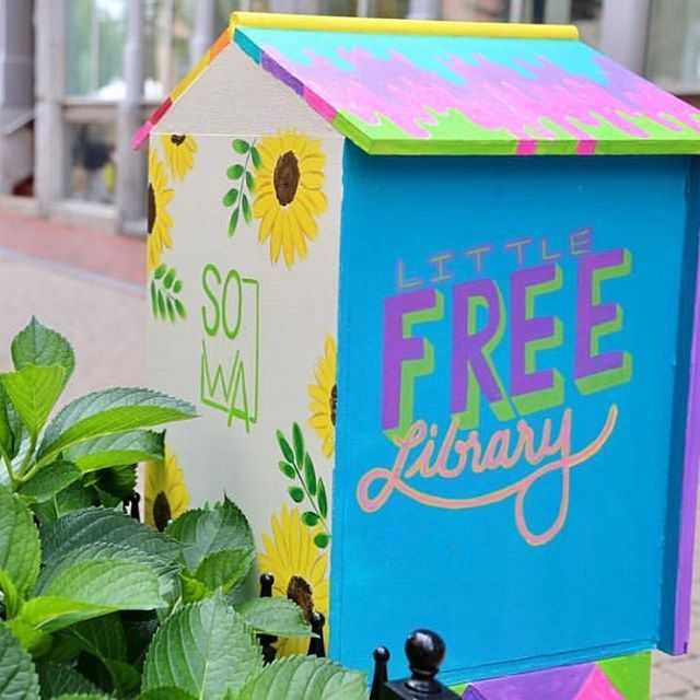In case you missed it - the @littlefreelibrary that used to live on Milford Street has moved to Thayer Street @sowaboston! And we hear @mtwyouth helped to stock it up for its grand reveal in its new home. (📷 by @sowaboston, 🎨 by @khunterart)