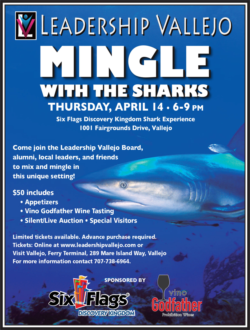 Click Here for tickets to Mingle with the Sharks!