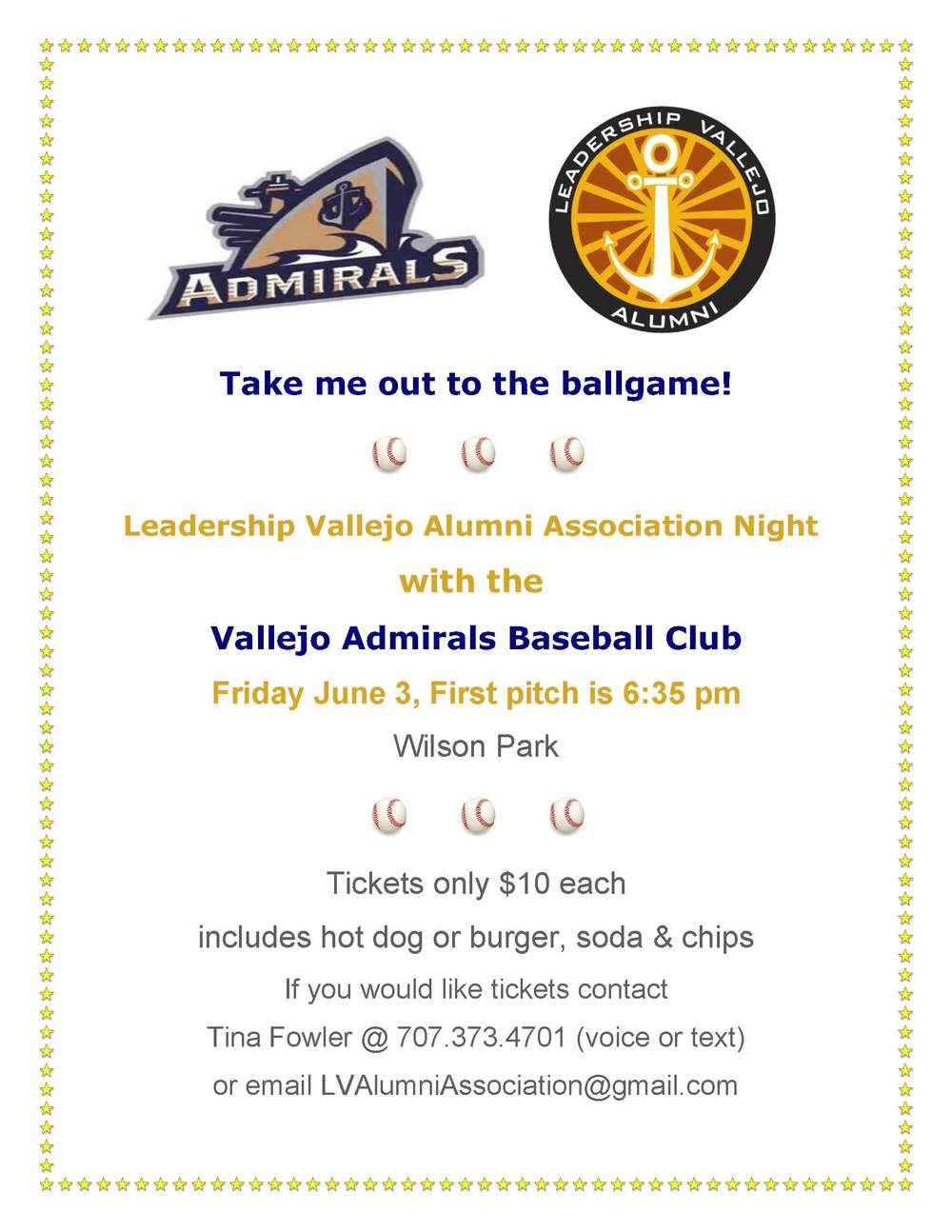 Click Here to Purchase Tickets to the Admirals Ball Game