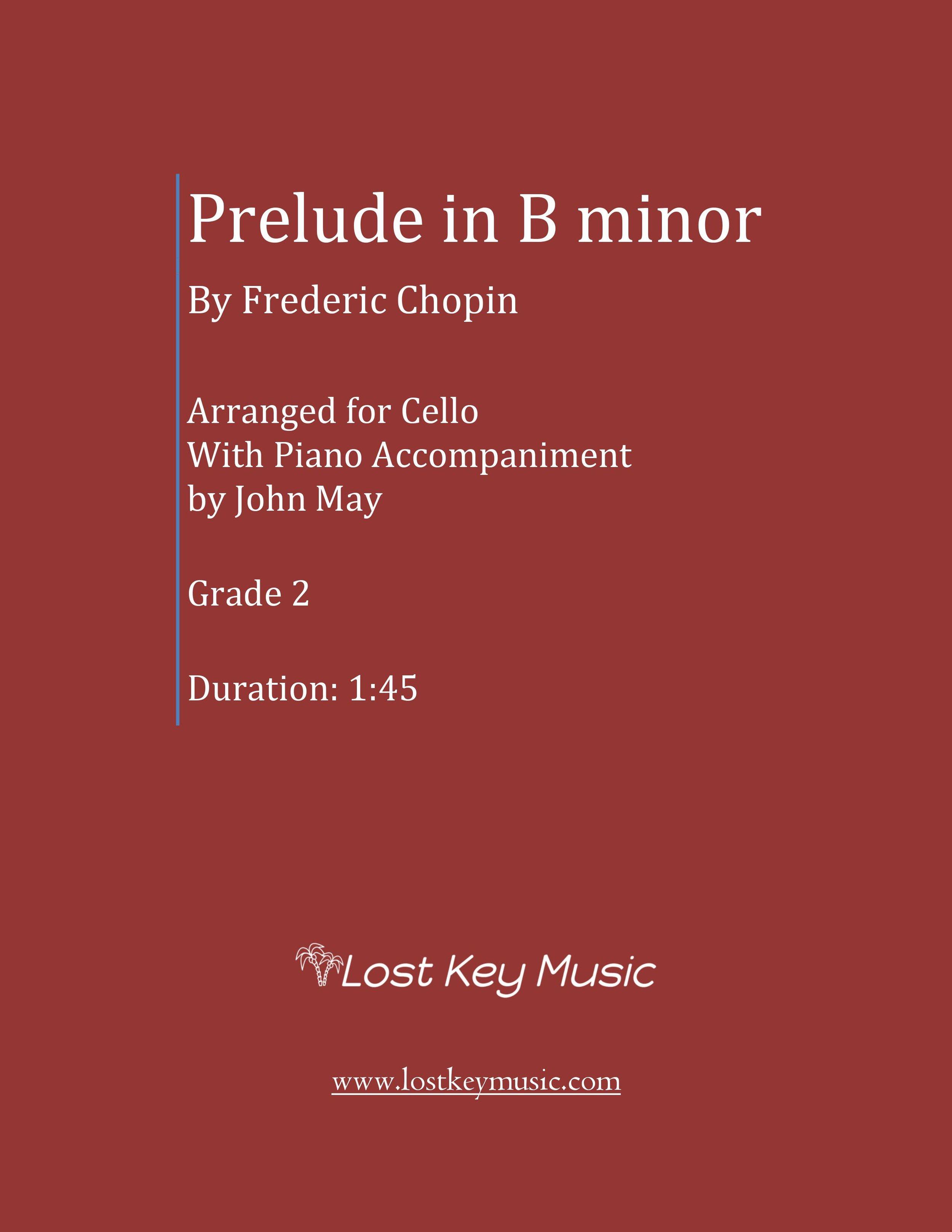 Prelude in B minor-Cello Solo with Piano Accompaniment (Shipped)