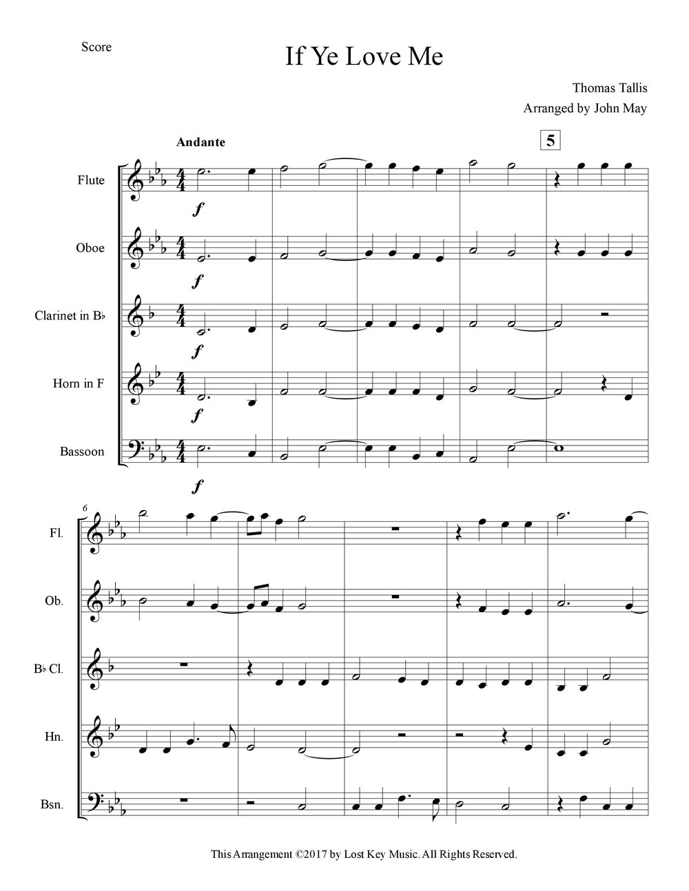 If Ye Love Me-Woodwind Quintet-Score Sample.jpg