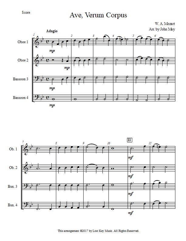 Ave Verum Corpus-Oboe and Bassoon Quartet-Score Sample.jpg
