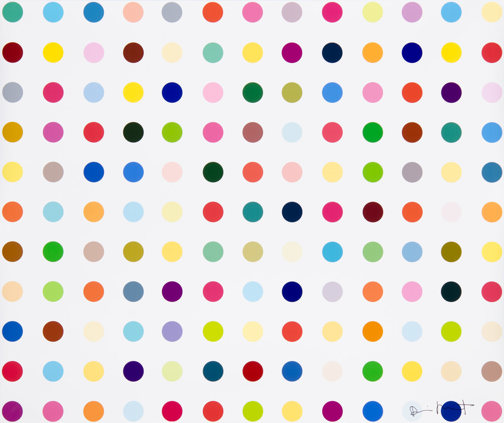 """LSD (Lysergic Acid Diethylamide)""  ~   Damien Hirst.    2000.    Lambda C type inkjet print in colors on Fujicolor Crystal Archive paper.   42 x 50 inches."