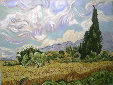 Wheatfield With Cypresses, C. 1889. Vincent Van Gogh