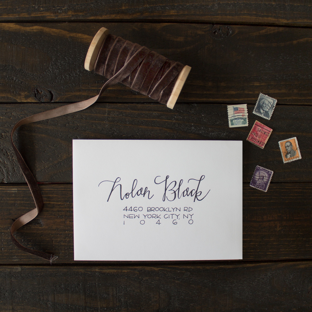hand lettered envelope
