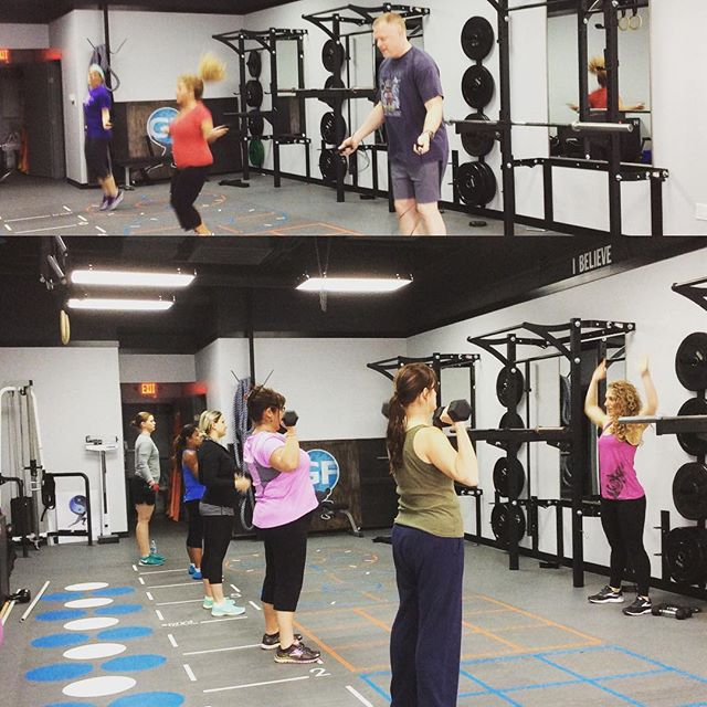 What FIT looks like in action. FREE  classes this week. Sign up at grandefit.com we hope to see you soon! #grandefit #fit #free #fitness #palatine #training #ptown