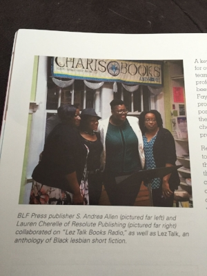 Photo Caption: 2016; Members of the collective at Charis Books & More in Atlanta; L to R: S. Andrea Allen, Claudia Moss, Krystal Smith, Lauren Cherelle