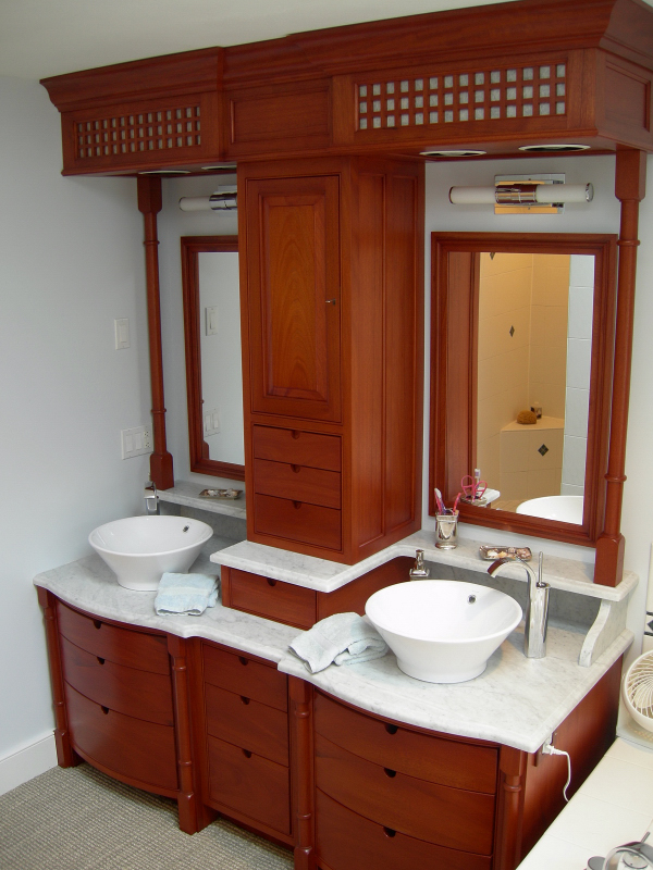 Bowfront vanity drawers