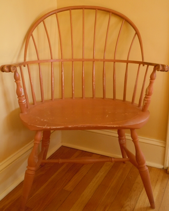 Custom designed sack back windsor chair