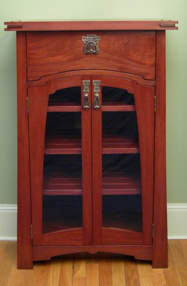 Art Nouveau media cabinet